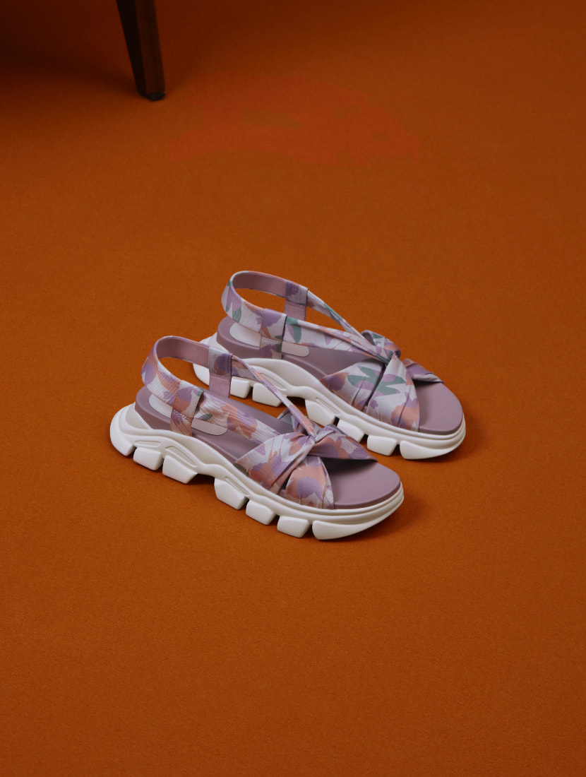 Women's fabric printed sports sandals - CHARLES & KEITH