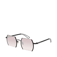 CUT OFF FRAME ROUND SUNGLASSES