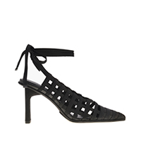 GROSGRAIN TIE-AROUND PUMPS