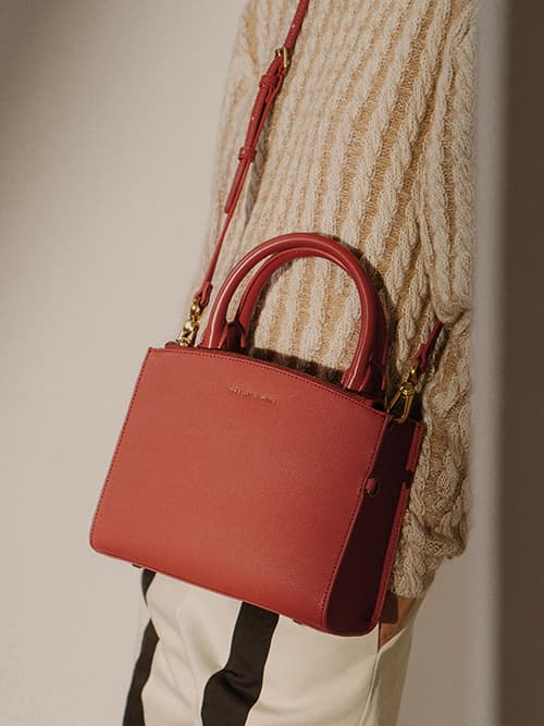 Chain-Link Top Handle Bag