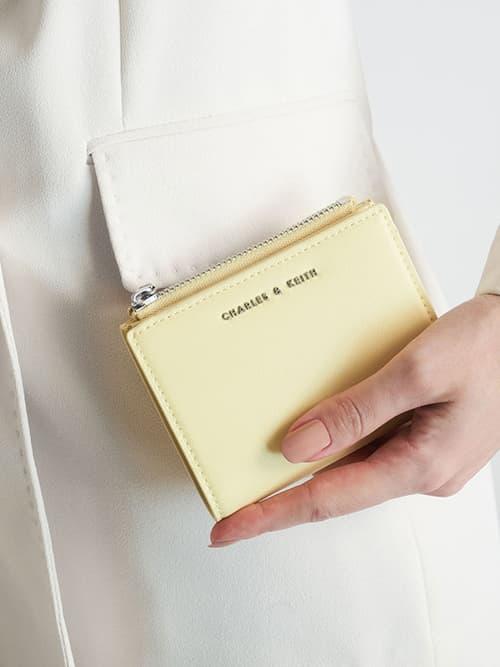 Mini Top Zip Small Wallet, Butter
