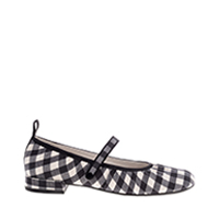 WOVEN GINGHAM MARY JANES