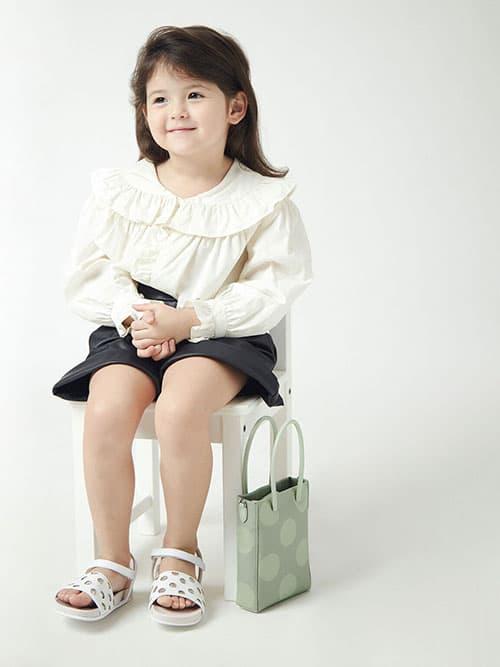 Girls' Laser-Cut Sandals, White