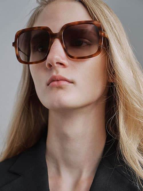 Square Acetate Tortoiseshell Sunglasses