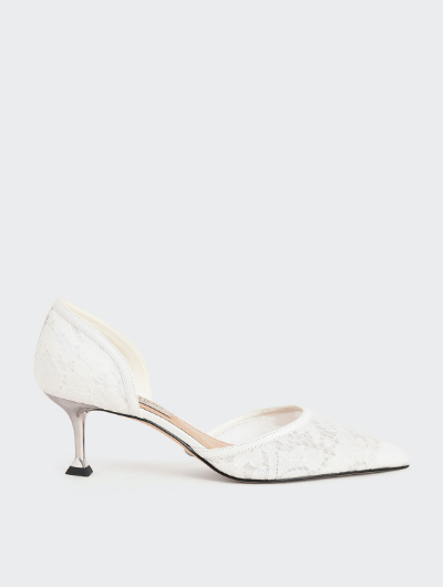 LACE & MESH D'ORSAY PUMPS