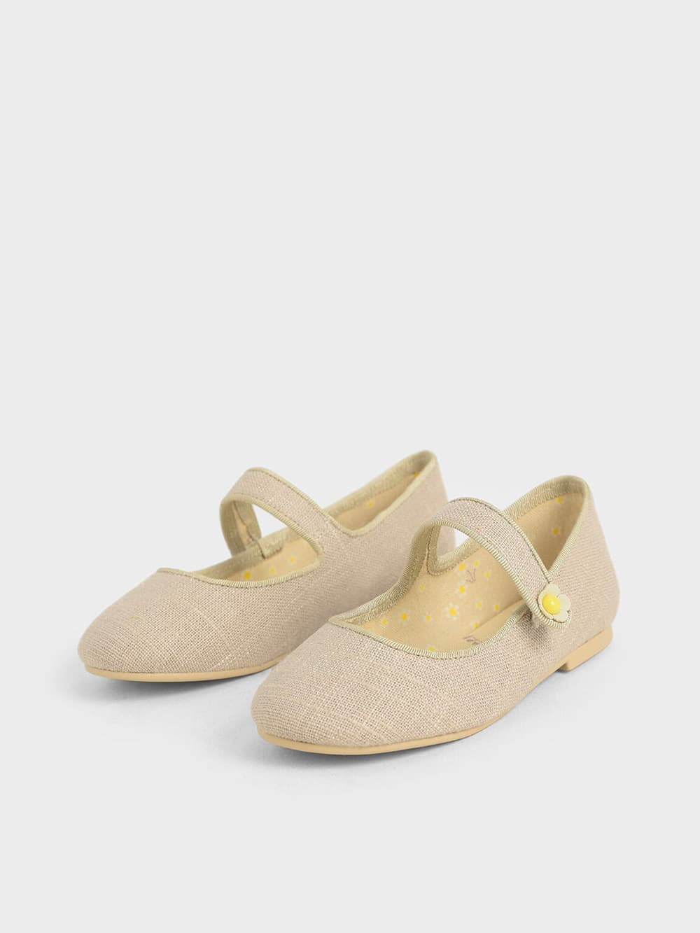 Girls' Cotton Mary Jane Ballerinas