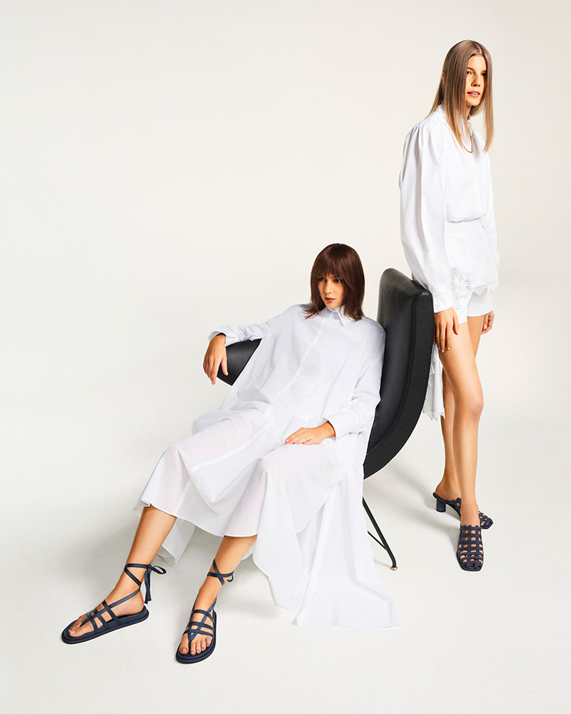 GROSGRAIN CAGED MULES - CHARLES & KEITH