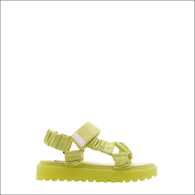 GIRLS' FABRIC RUCHED SPORTS SANDALS