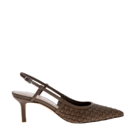 WOVEN SLINGBACK COURT SHOES