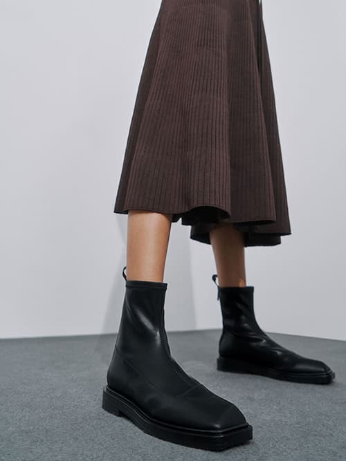 Sculptural Ankle Boots