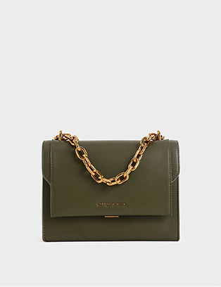CHUNKY CHAIN-LINK CROSSBODY BAG