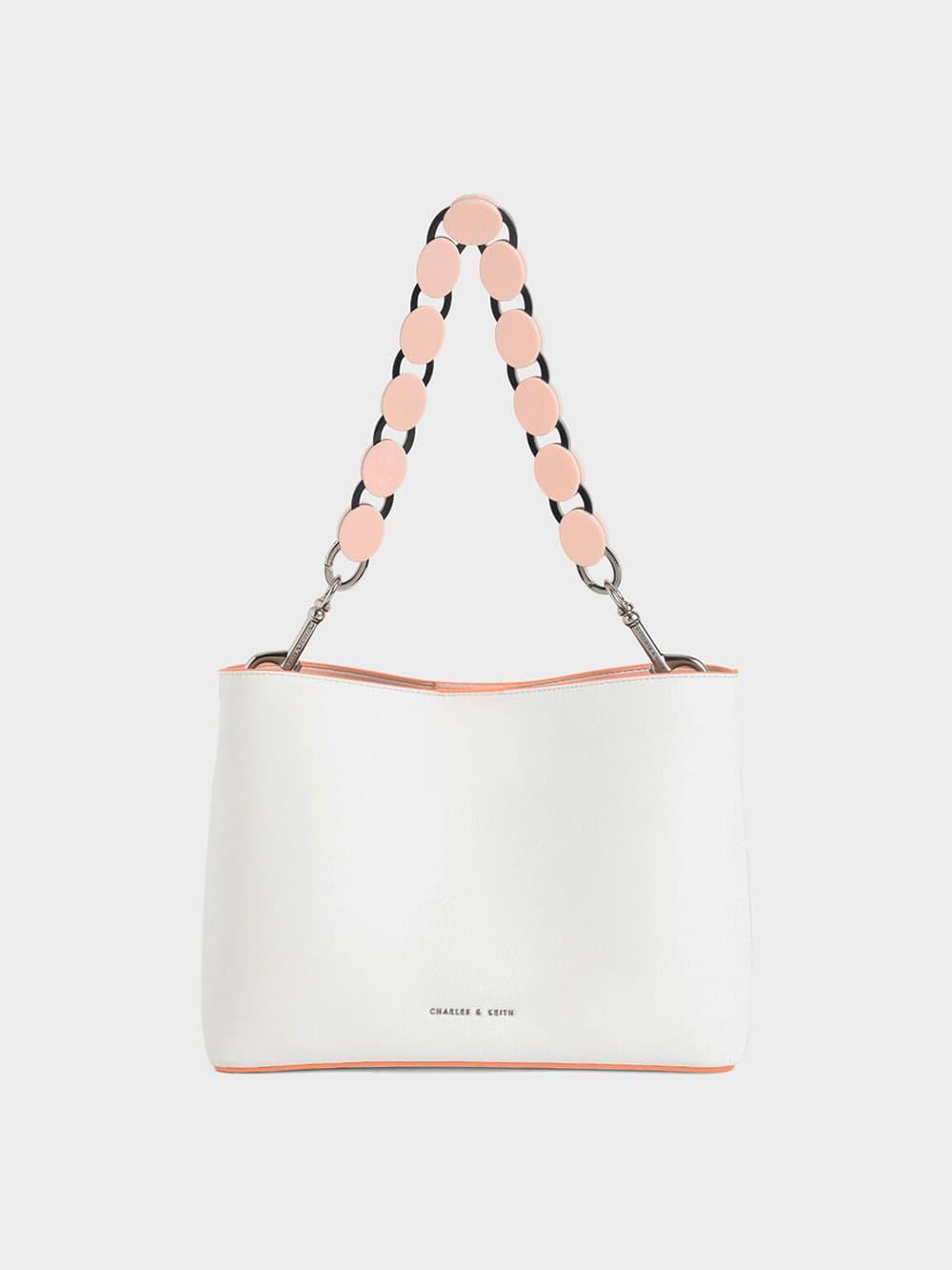 Acrylic Handle Bucket Bag
