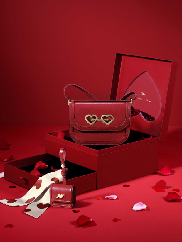 Women's qixi gift set: satin scarf bag & airpods pouch - CHARLES & KEITH