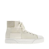 WOVEN FABRIC HIGH TOP SNEAKERS