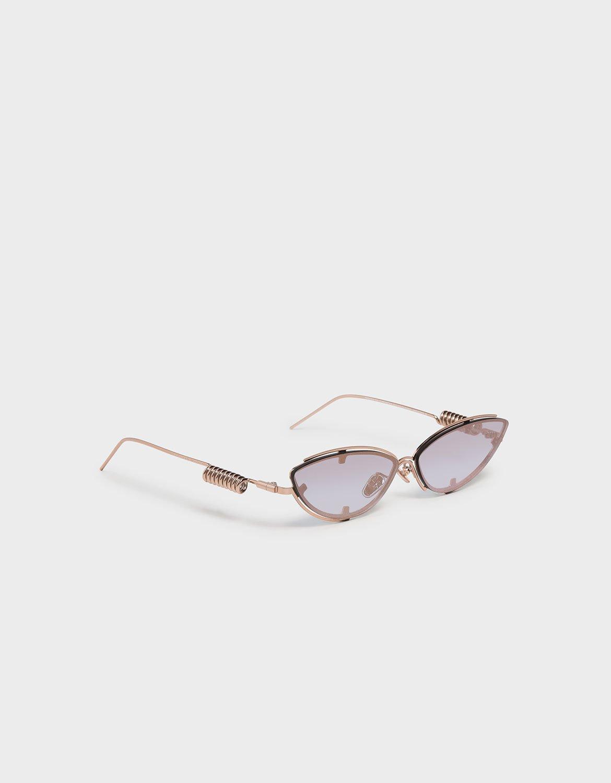 玫瑰金貓眼雙框墨鏡 - CHARLES & KEITH