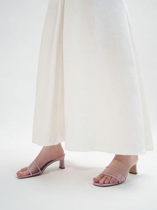 透視方頭拖鞋