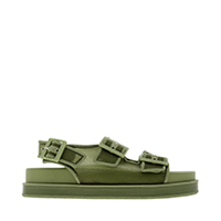 Mesh Flatform Sandals