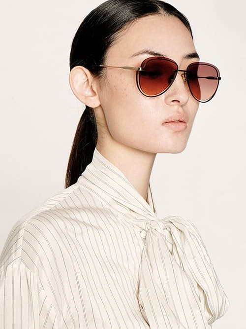 Cut-Out Tinted Sunglasses, Mauve