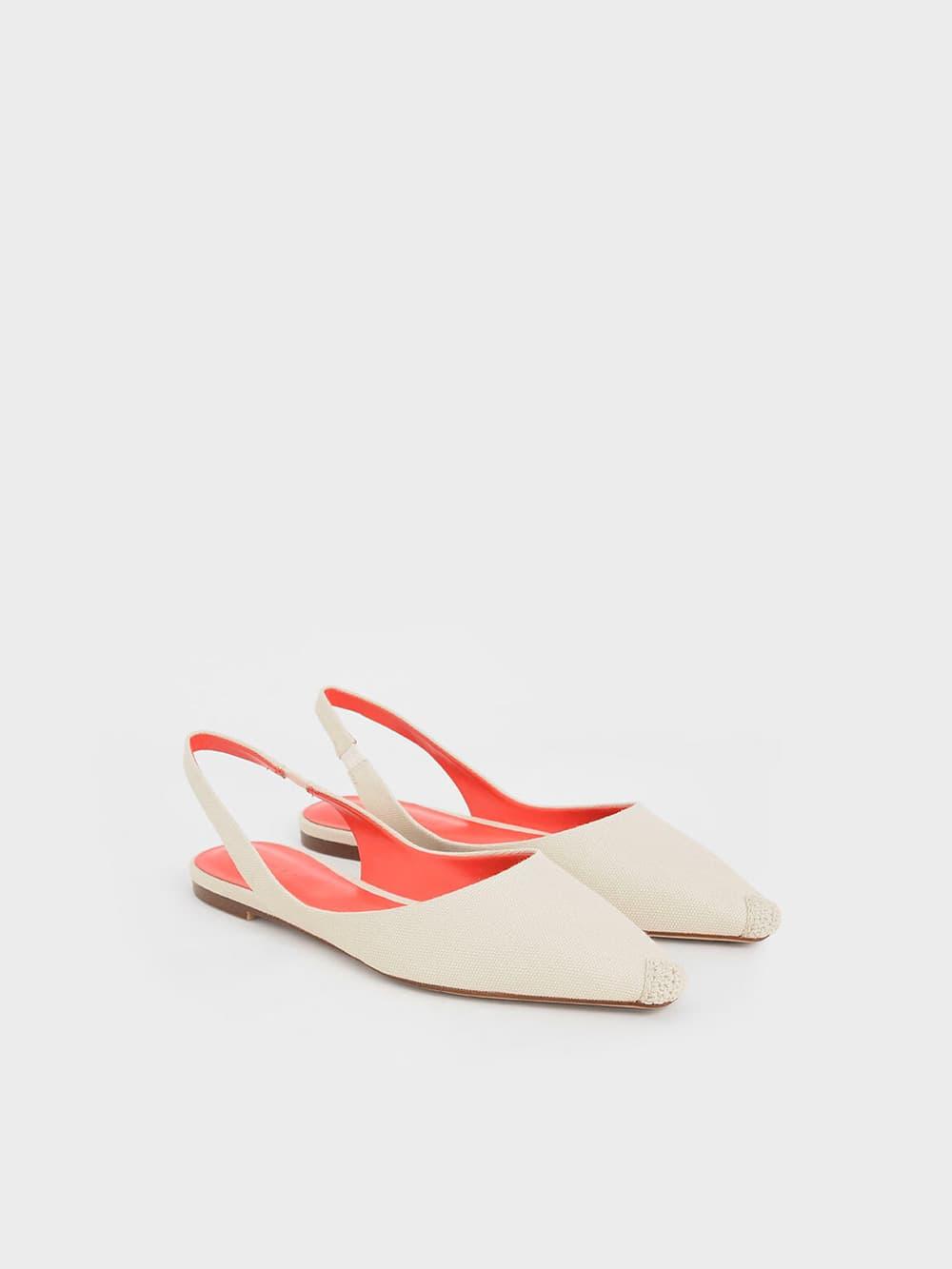 麻繩拼接平底鞋