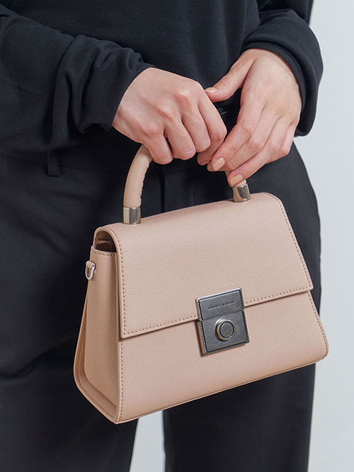 Trapeze Top Handle Bag