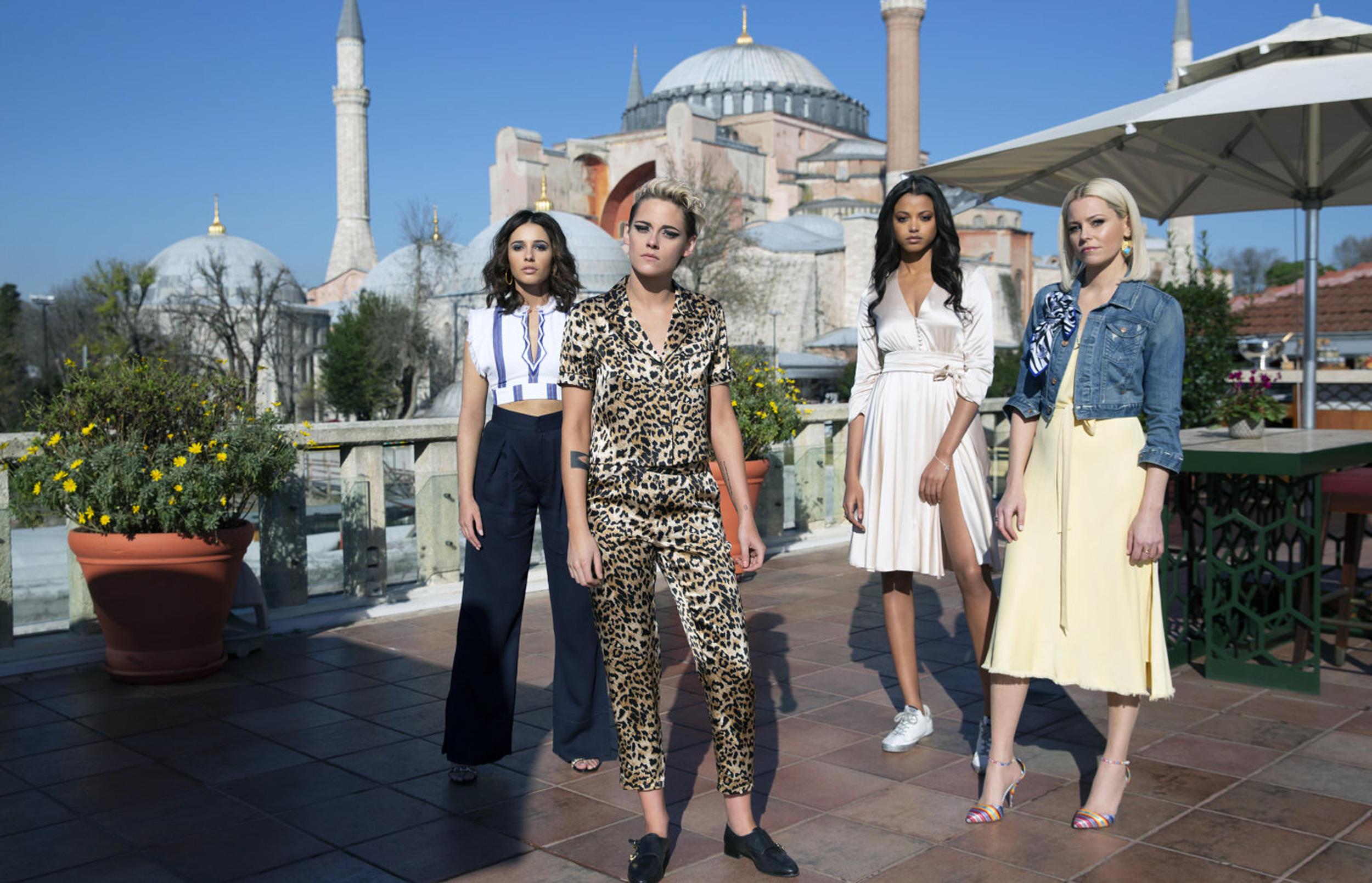 Naomi Scott, Kristen Stewart, Ella Balinska and Elizabeth Banks star in the upcoming Charlie's Angels Reboot