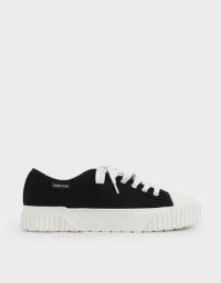 ORGANIC COTTON PLATFORM SNEAKERS