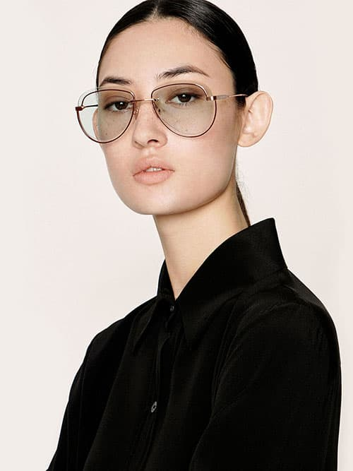 Cut-Out Tinted Sunglasses, Rose Gold