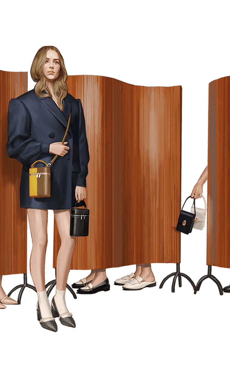 A line-up of slingback pumps, chain link loafers, fringed mules and elongated front flap bags - CHARLES & KEITH - Mobile - Divider