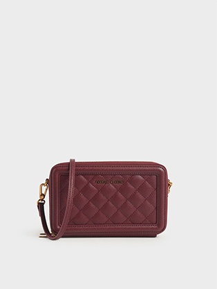 QUILTED ZIP AROUND LONG WALLET