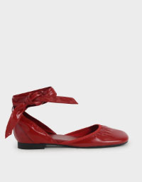LIMITED EDITION: PATENT TIE-AROUND D'ORSAY FLATS