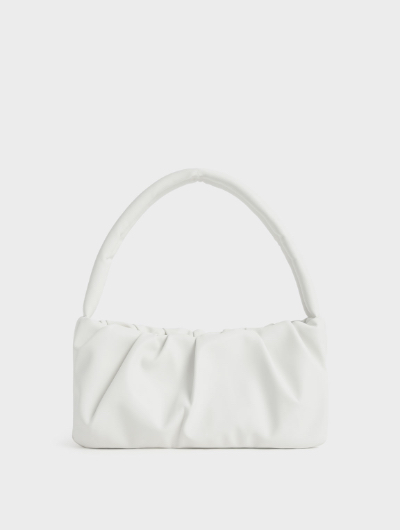 Ruched Top Handle Bag