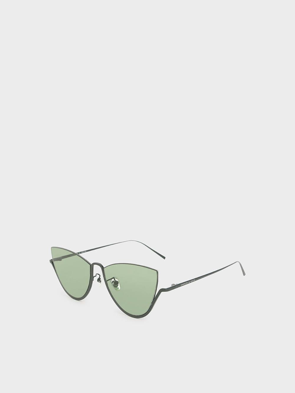 Half Frame Cat-Eye Sunglasses