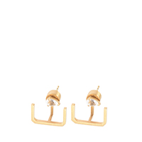 SUNSTONE EAR CLIMBER EARRINGS
