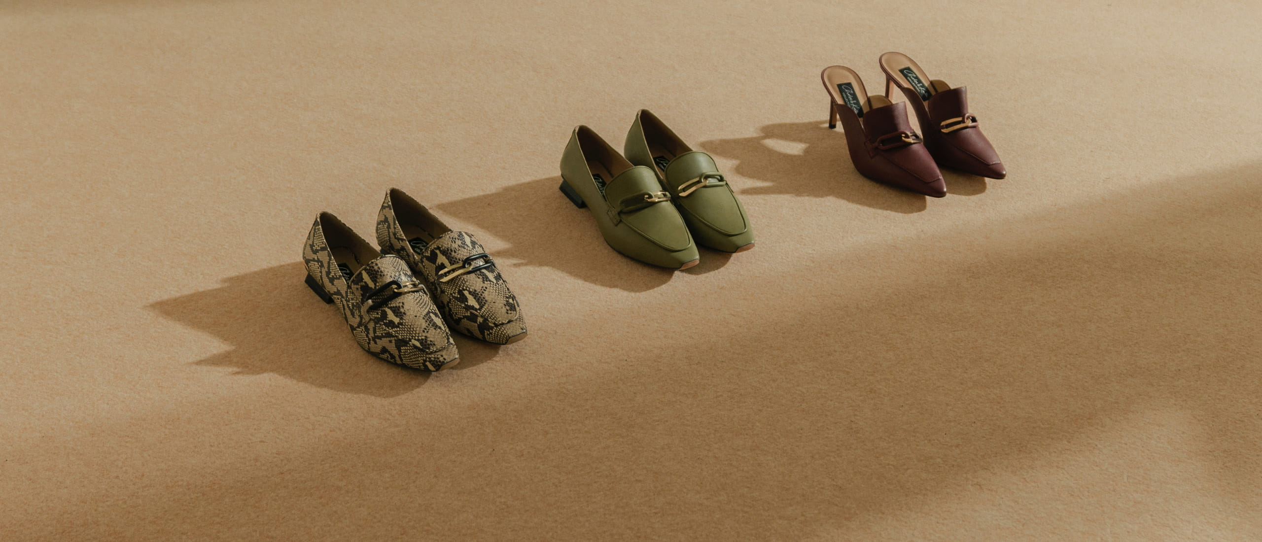Women's embellished leather mules, embellished leather loafers and snake print embellished leather loafers – CHARLES & KEITH
