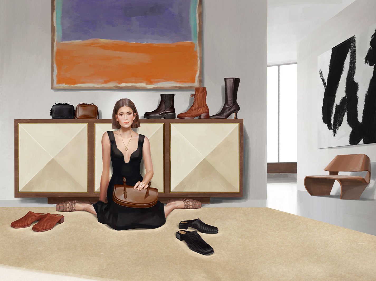 A compilation of illustrations from the CHARLES & KEITH Fall Winter 2020 campaign - CHARLES & KEITH - Web - Right Side