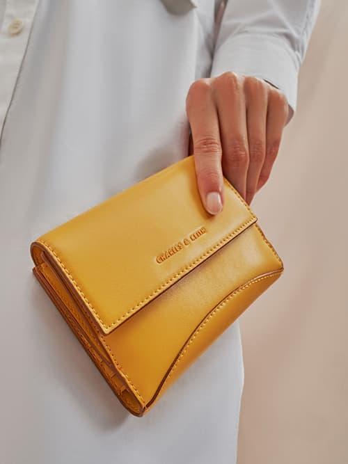 Snap Button Mini Short Wallet