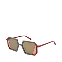 Two-Tone Geometric Sunglasses