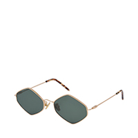 Thin Metal Frame Geometric Sunglasses