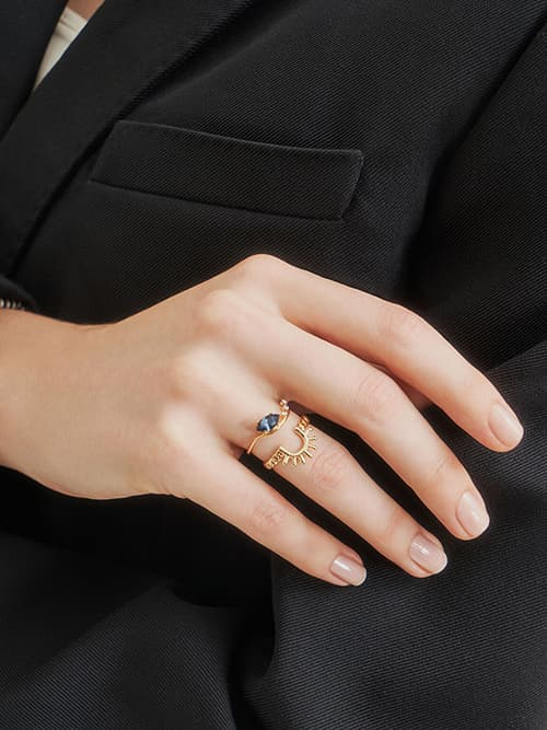 Chain Link Ring, Gold