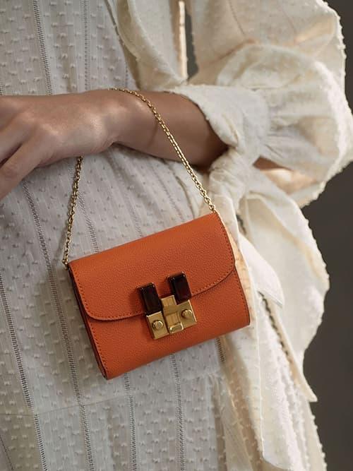 Stone-Embellished Mini Wallet
