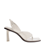 PATENT SLINGBACK THONG SANDALS