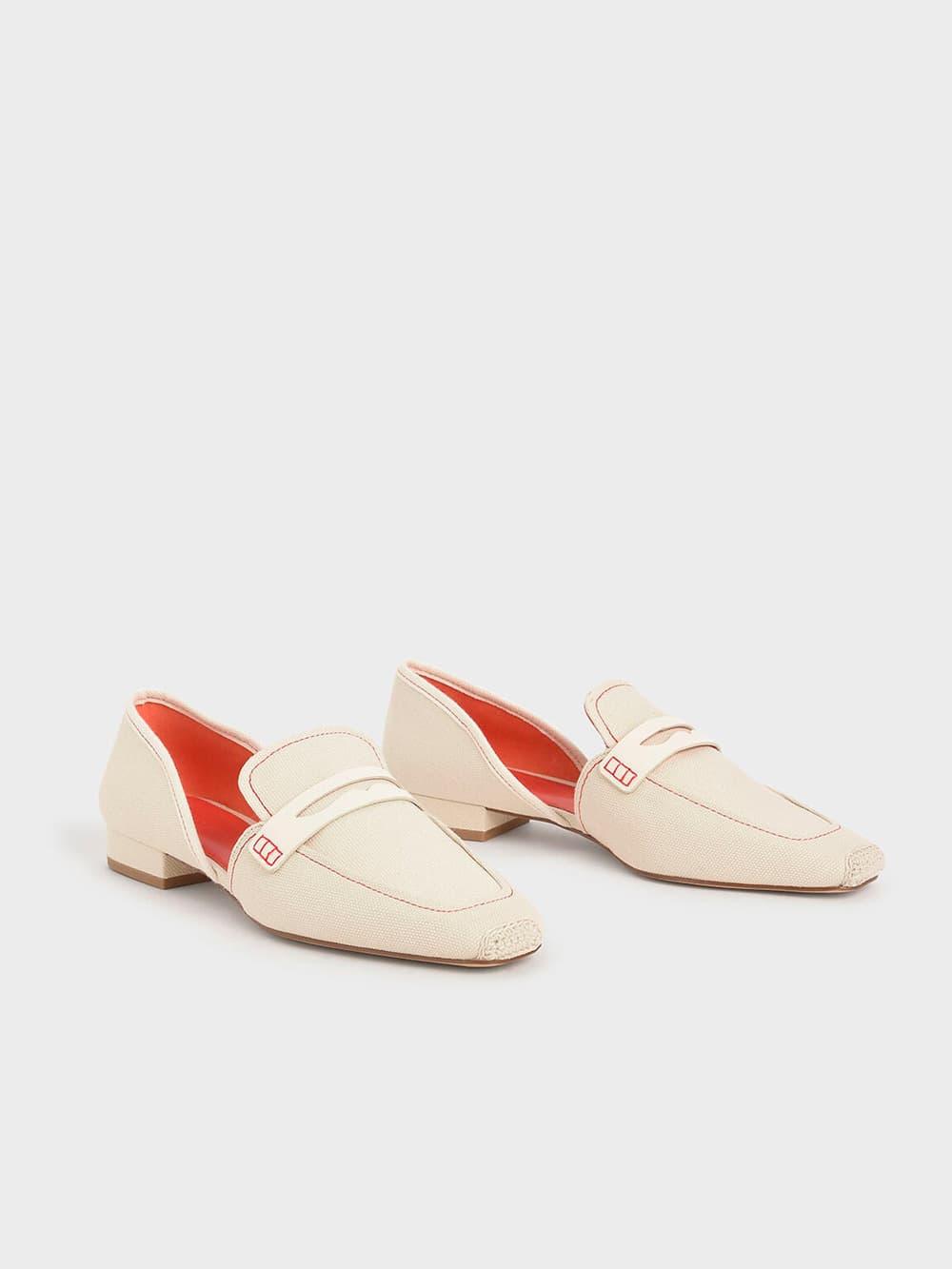 麻繩拼接樂福鞋