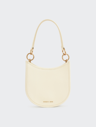 RING DETAIL HOBO BAG