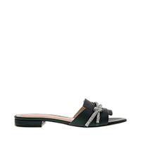 Embellished Strap Slide Sandals