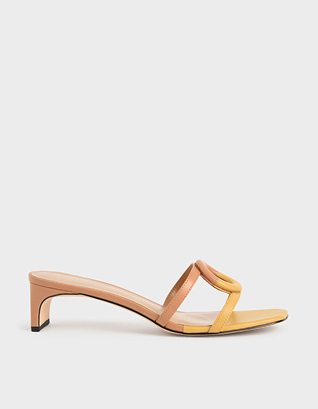 MISMATCHED BLADE HEEL SANDALS