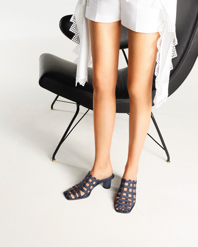 GROSGRAIN WOVEN MULES - CHARLES & KEITH