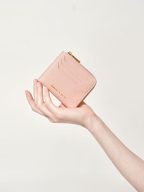 Multi-Slot Mini Pouch, Pink