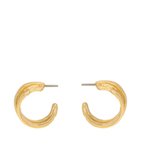 Hammered Huggie Hoop Earrings