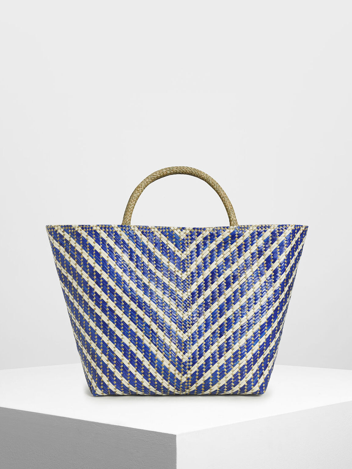 CK-IWD-TOTE Handwoven Two-Tone Banig Tote