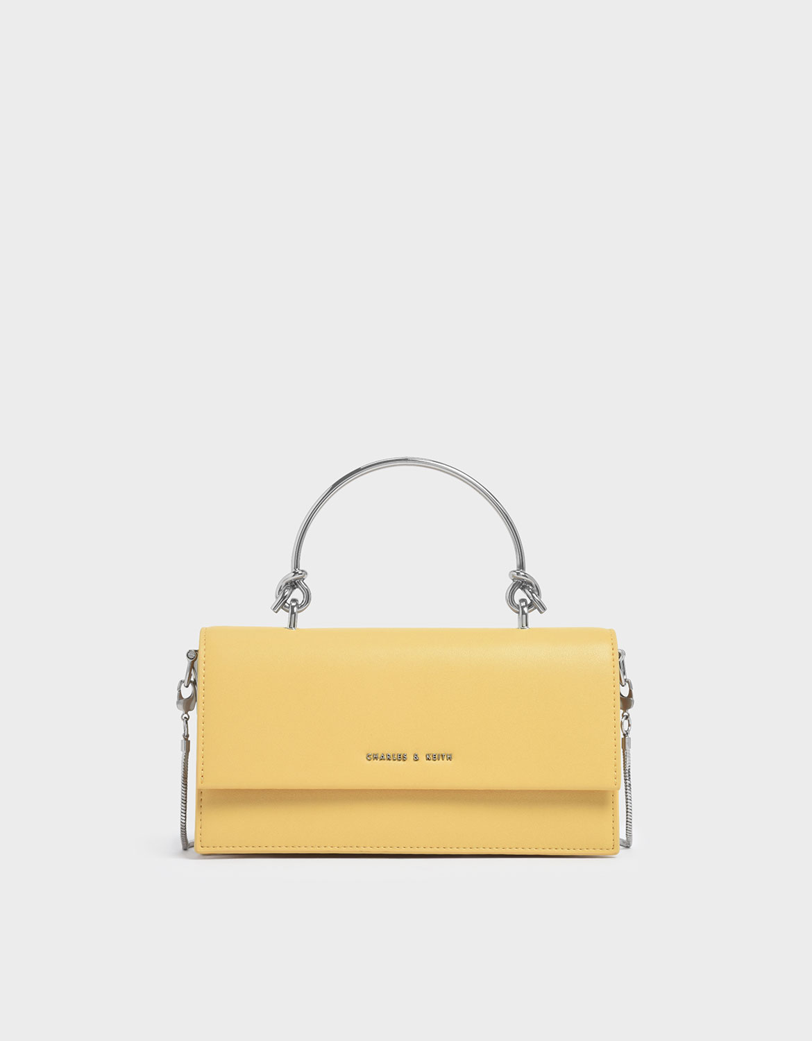 Women's demi metal top handle long wallet in yellow – CHARLES & KEITH